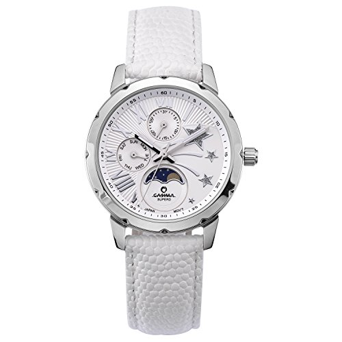 Casima White Dial 3 Hands Classical Womens Leather Victorinox Watch#2802-SL8