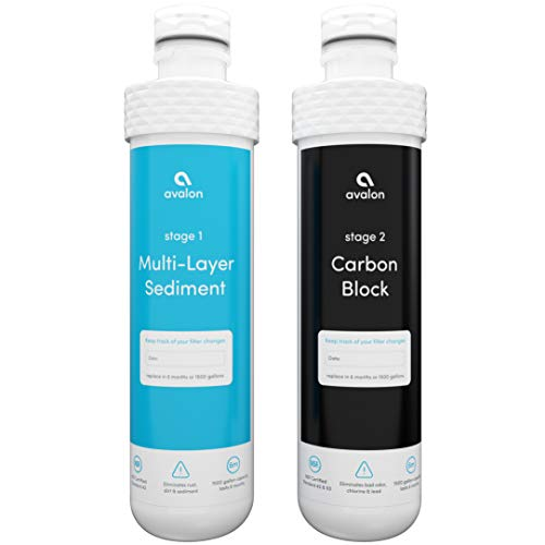 Avalon 2 Stage Replacement Filters For Avalon Branded Bottleless Water Coolers (PURCHASED AFTER JANUARY 2018), NSF Certified, 1500 Gallons