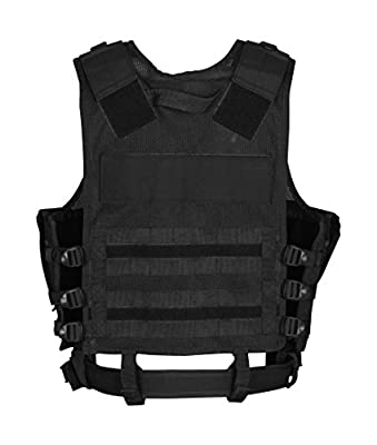 10Code Law Enforcement Tactical Vest Outdoor Adjustable Light Weight Black Vest Combat Training Air Soft Vest