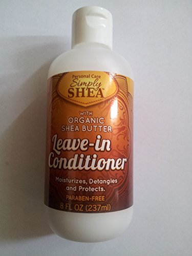 Simply Shea Leave-in Conditioner with Organic Shea Butter (Paraben-free) 8oz (Leave In Moisturizing Conditioner)
