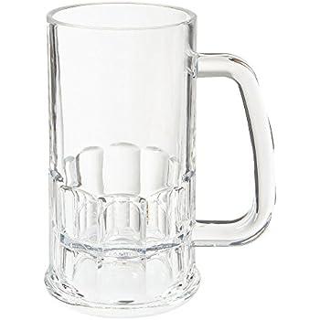 Amazon Com 12 Oz 5 5 Quot Clear Break Resistant Tall Beer