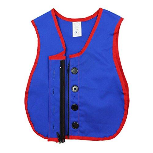 Childrens Factory CF-361319 Manual Dexterity Button and Zipper Vest - Multi Zipper Vest