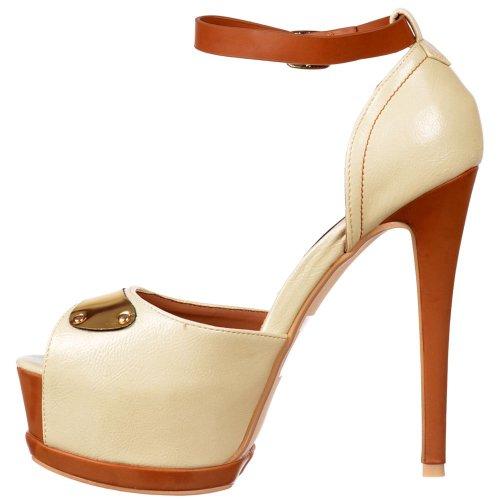 Tå Kvinners Onlineshoe merket Tone Stiletthæl Titte Dame Forstropp To Detalj Gull Beige Metallisk nYpSrdqwpF