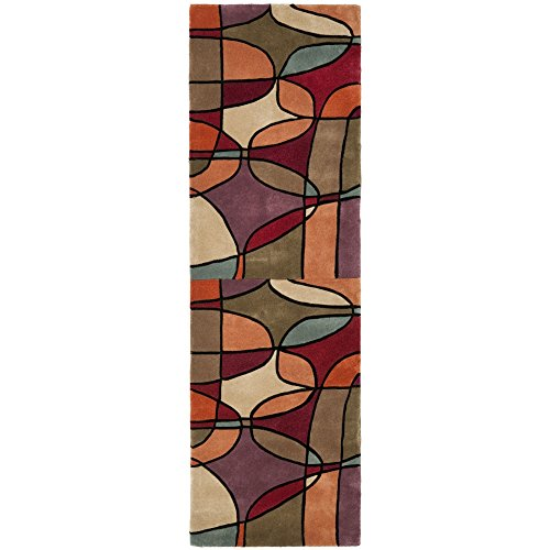 Safavieh Rodeo Drive Collection RD880A Handmade Abstract Multicolored Wool Runner (2'6