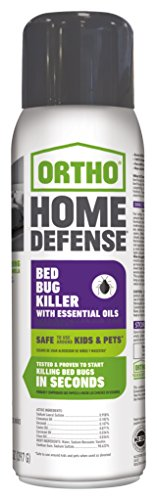 Home Bed Bugs Treatment (Ortho Home Defense Bed Bug Killer with Essential Oils Aerosol 14 OZ)