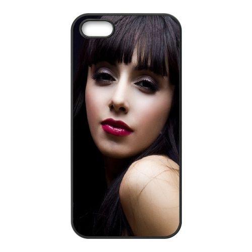Brunette Makeup Face Eyes 91841 coque iPhone 5 5S cellulaire cas coque de téléphone cas téléphone cellulaire noir couvercle EOKXLLNCD22540