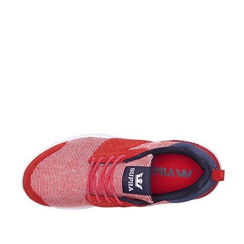 Supra Damesschaar 18 Schoenen Rood Marine Wit