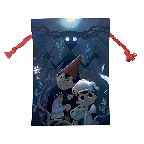 (KEITH WRIGHT O-Over The Gar-den Wall-e Wrap Bags Xmas Santa Claus Present Drawstring Bag Holiday Decorations Ornaments)