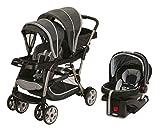 Graco Ready2Grow Duo Stroller (Glacier) & Click Connect 35 Car Seat (Gotham)