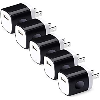 Amazon.com: Single Port USB Wall Charger, NINIBER 5-Pack ...