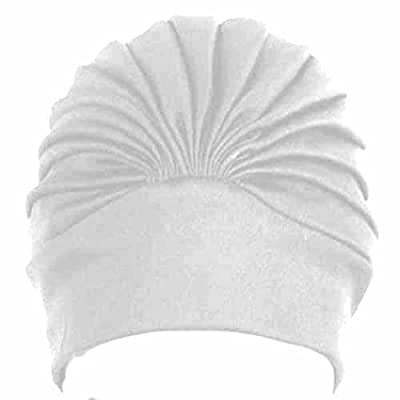 Polyester Latex Lined Pleated Women's Swim Bathing Turban ( Available in 6 colors)