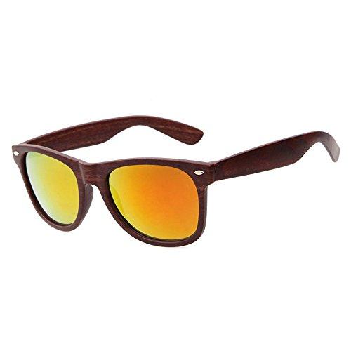 Cool to de de deporte madera Cuadrado Mujeres gafas sol gafas libre imitación I aire Gafas Hombres SKY de al de wear Round Vintage Mirrored de sol d5qFw5cx1g