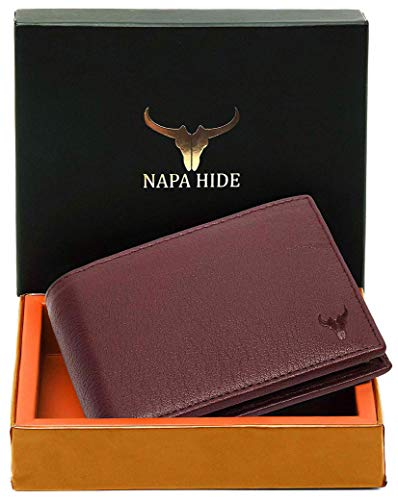 Leather Wallet for Men (Maroon)