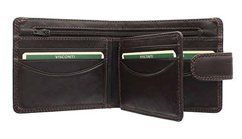Chocolate Leather Closure Gents Collection HT9 Heritage SLOAN Black Wallet Visconti Tab With HxP7F