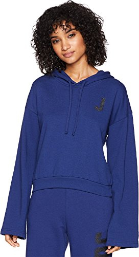 Juicy Couture Women's J Pullover Hoodie Twilight Blue Large by Juicy Couture