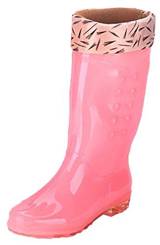 Bevalsa Femme Bottes de Pluie Bottines Cheville Rainboots Bottine de Pluie Bottes Chelsea Boots Bottes Courtes Bottes Wellies Imperméables Chaussures Rose+cotton iU94kE