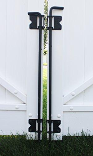 All Island Fence & Railing Heavy Duty Stainless Steel PVC/Vinyl Fence 36'' Drop Rod and Screws- BLACK by All Island Fence & Railing (Image #1)
