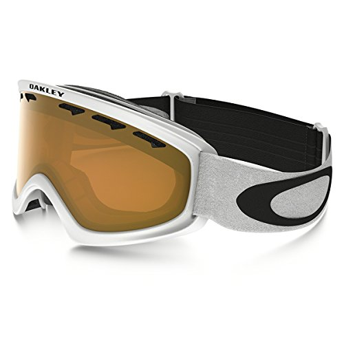 Oakley 02 XS Snow Goggle, Matte White with Persimmon - Snow Goggles Oakley