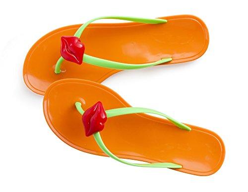 Brandani ciabatta infradito profumo di baci arancio