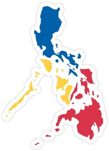 Amazoncom Philippines Map Flag Sticker Decal  X  Automotive - Car sticker decals philippines