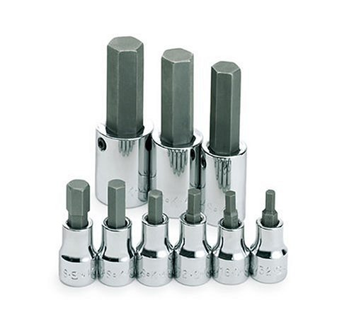 SK Hand Tools 19733 9-Piece 3/8-Inch and 1/2-Inch Drive Fractional Hex Bit Socket Set from SK Hand Tool