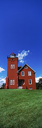 Two Harbors Lighthouse on Lake Superiors Agate Bay Burlington Bay Minnesota USA Poster Print by Panoramic Images (18 x ()
