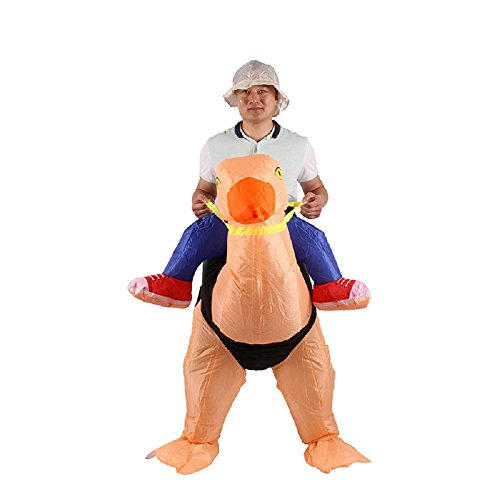 [Ostrich Inflatable Costume Adult Fancy Dress Costume Riding Cosplay Outfit] (Halloween Ostrich Rider Costume)