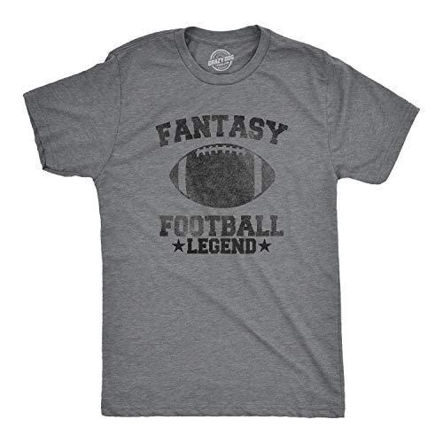 Crazy Dog T-Shirts Mens Fantasy Football Legend Tshirt Funny Sarcastic Sports Team Tee (Dark Heather Grey) - 5XL