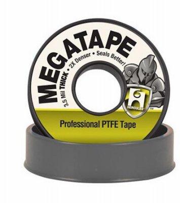 Hercules 15050d Megatape Professional Ptfe Tape, Gray, 35 Mils, 1/2