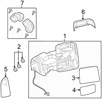Genuine Ford YL1Z-17683-FAA Outer Rear View Mirror Assembly