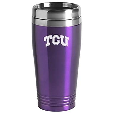 Texas Christian University - 16-ounce Travel Mug Tumbler - Purple