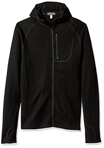 Ibex outdoor Clothing Merino Wool Shak Hoodoo Hoody, Black, Medium by Ibex