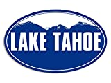 Blue Mountain Oval LAKE TAHOE Sticker (ca snow ski skiing resort)