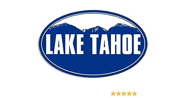 White VINYL Ca SIERRA AT TAHOE Ski Resort Sticker Snowboard Lake Tahoe