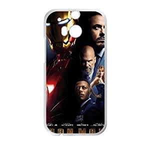 Iron Man HTC One M8 Cell Phone Case White O4502628