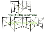 CBM Scaffold 3 Stack-able Waco Scaffold 5Ft. x 5Ft. x 7Ft Box Frame Set Model # FF551S (Flip Lock)