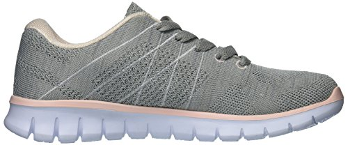 Noi Polo Assn. Womens Cora2 Fashion Sneaker Light Grey / Blush