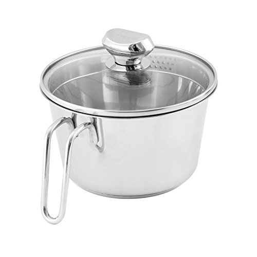 2-Quart Stainless Steel Saucepan with Colander Lid, used for sale  Delivered anywhere in USA