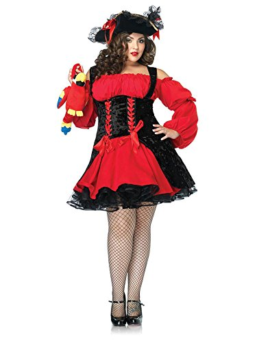 Vixen Pirate Wench Costume - Plus Size 1X/2X - Dress Size 16-20 -