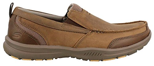 Skechers Mens Relaxed Fit Elected Brano Loafer Brown tJa5gtB2j