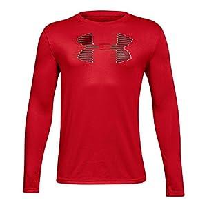 Under Armour Boys' Tech Big Logo Long Sleeve Shirt, Red (600)/Black, Youth Small