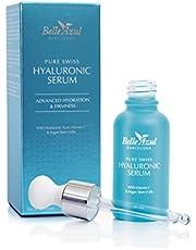 Belle Azul Siero viso Acido Ialuronico puro anti-invecchiamento con Vitamina C e Cellule Staminali Di Argan. Idratante, tonificante e rassodante. Ideale per la zona contorno occhi. Aiuta a ridurre efficacemente le rughe 30 ml