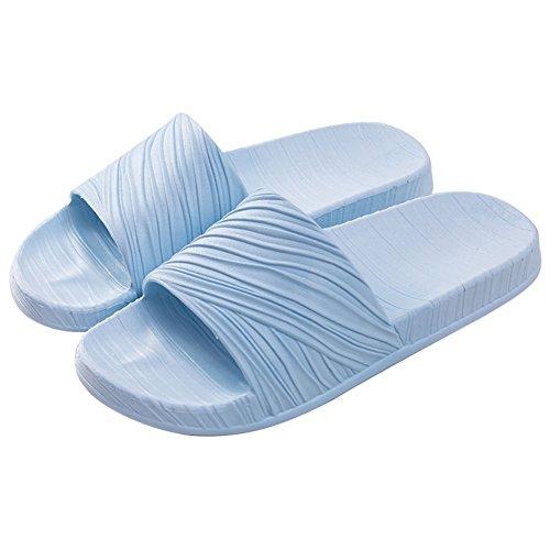 Buganda Men Women Soft House Slippers Non-Slip Light Weight Shower Slide Beach and Pool Slippers Indoor Shoes For Bathroom - Shower Slide