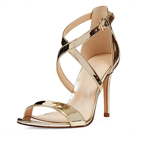 Strappy Hihna Heels Klassinen Avokärkinen Korkokengät Stiletto Kesäjuhla Classic Narusandaalit Sandals 10cm High Rajat Cross Toe Tikari Women Elashe Strap Party Naisten Summer Open Hq1twSqx