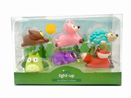 Rittle Woodland Critters, Cute Floating Light-up Bath Toys (Set of 6) by Rittle