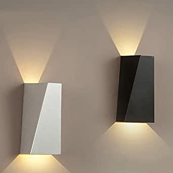 YanCui@ Wall Mount Wall lights for the Bedroom/Study Room/Foyer Decorate Wall light Simple wrought iron modern LED Wall lamp , black
