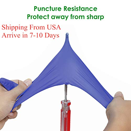 Nitrile Gloves,100 Pcs Disposable Gloves,Small Size, Comfortable, Powder Free, Latex Free, Shipping from USA, Arrive in 7-10 Days, (Purple)