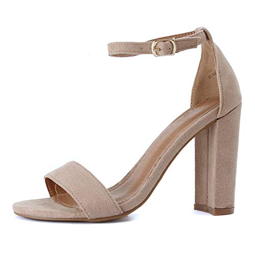 Guilty Shoes - Shirley-1 Light Taupe Suede, 8 ()