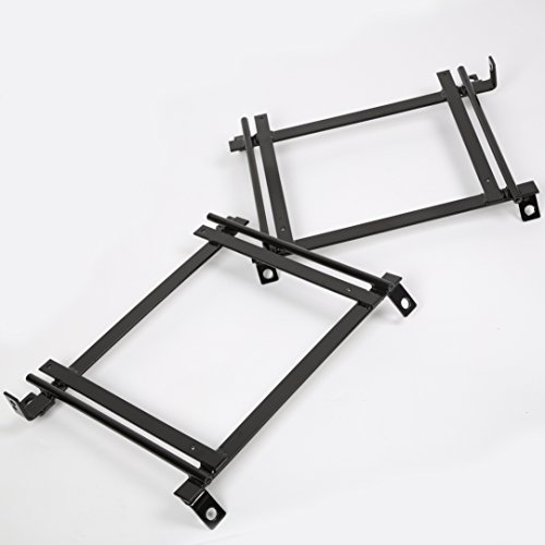 Racing Bucket Seat Base Mounting Adapter Brackets Rails Tracks 92-00 Civic Pair