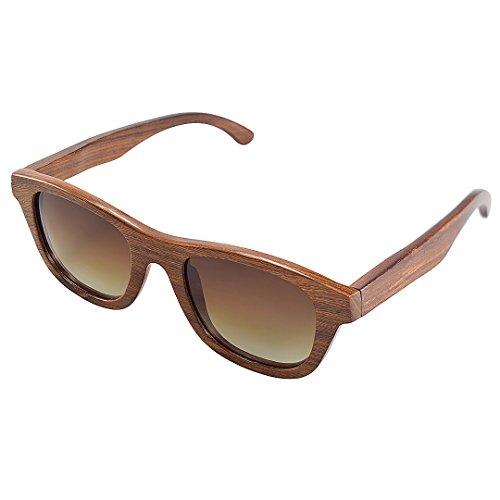 UV400 G001a Soleil Polarisées Adulte Retro rd de Sunglasses Mixte Lunettes Pure Lunettes Bois Wooden Lunettes BEWELL Sports Homme amp; Vintage Femme xSHqOvE